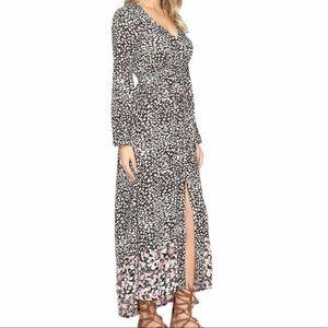 Billabong Allegra Kimono Button Down Maxi Dress M
